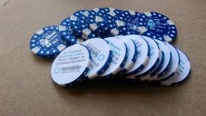 2014 BSidesDE Tenable Lunch Sponsor Poker Chip IMAG3549