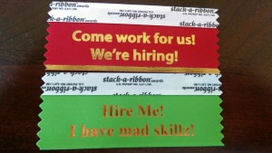 Badge flair for employers and job seekers