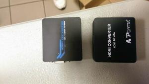 HDMI to VGA adaptors