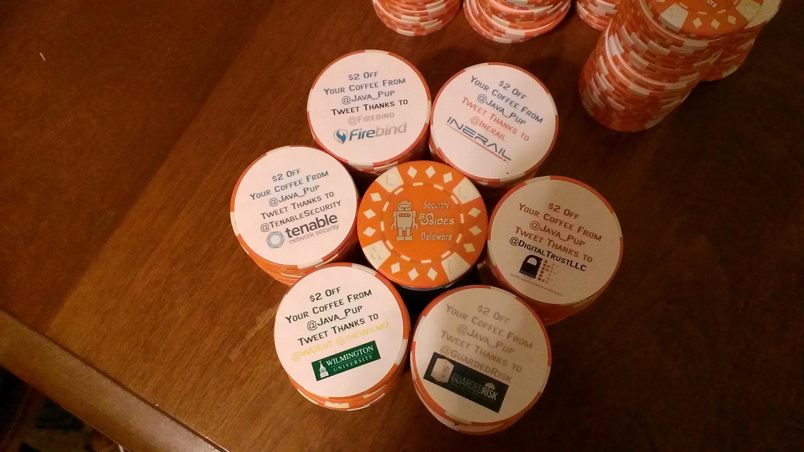BSidesDE 2013 Coffee Poker Chips